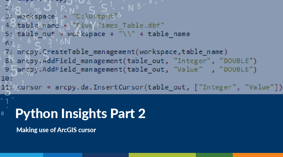 Python Insights: Making use of ArcGIS Cursor | Spatial Vision