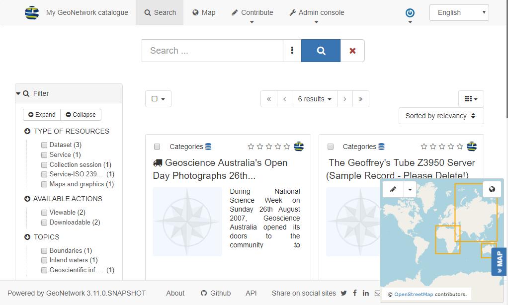 geonetwork spatial metadata